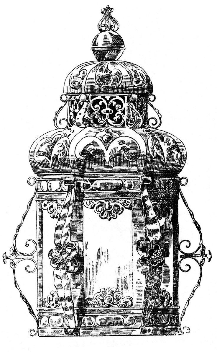 Vintage Clip Art Gothic Baroque Candle Holders Baroque