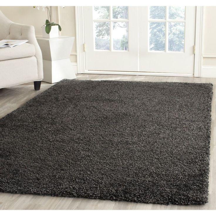 Safavieh Milan Shag Dark Grey Rug (5'1 x 8') | Overstock.com Shopping - Great Deals on Safavieh 5x8 - 6x9 Rugs