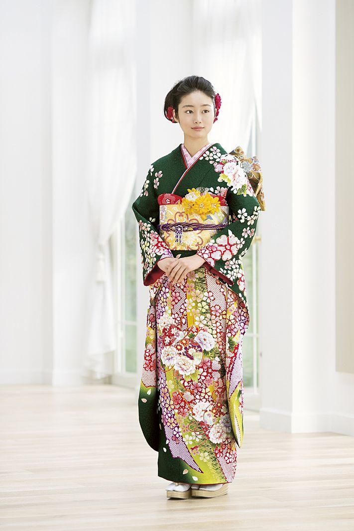 囲繞地 NO.1573 正絹 京友禅 成人式の振袖販売、振袖レンタルの京都きもの友禅