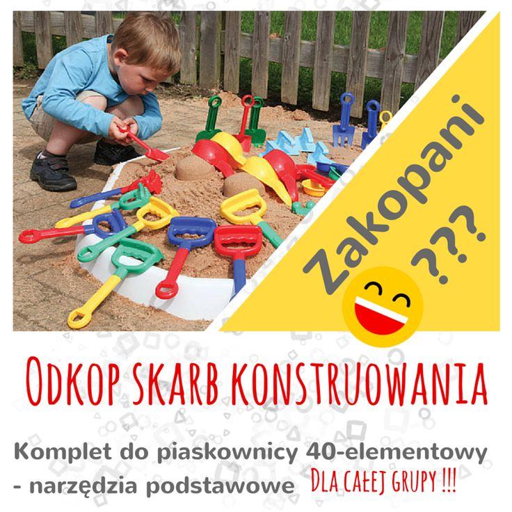 Co kryje się pod warstwą piasku? Oczywiście wspaniała zabawa, owady, drobne żyjątka, a może najlepsza zabawa konstrukcyjna? Dla całej grupy? http://sklep.educarium.pl/educarium.php?section=1& kategoria=9589&subkategoria=1366&produkt=20025