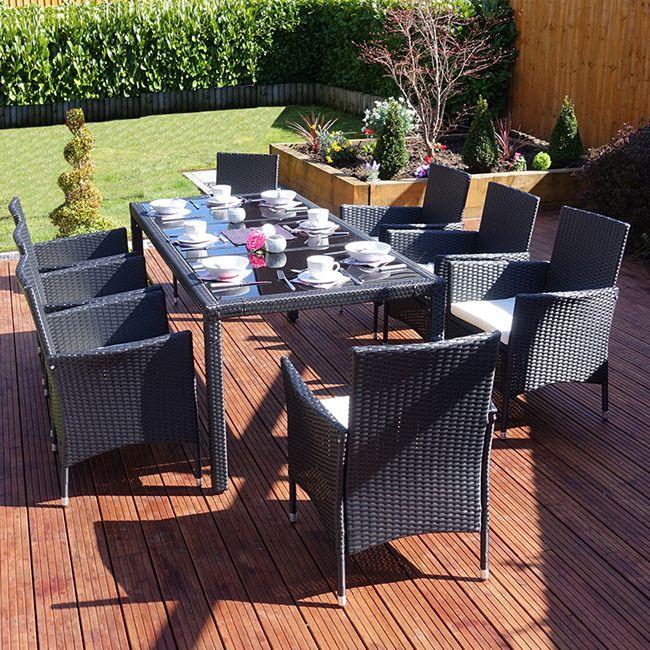 8 Seater Set http   rattan gardenfurniture co uk. 27 best Black Rattan Garden Furniture Sets images on Pinterest