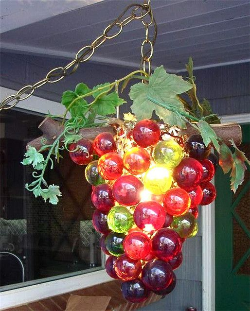 Funky Grape Presents: Vintage Grapes Lamp ... by trippyglitters, via Flickr