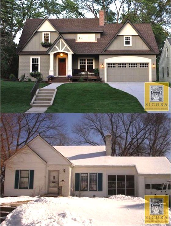 Home Exterior Renovation Before And After Entrancing 426 Best Before And After Homes Images On Pinterest  Exterior 2017