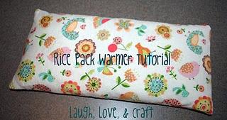 Rice Pack Warmer Tutorial