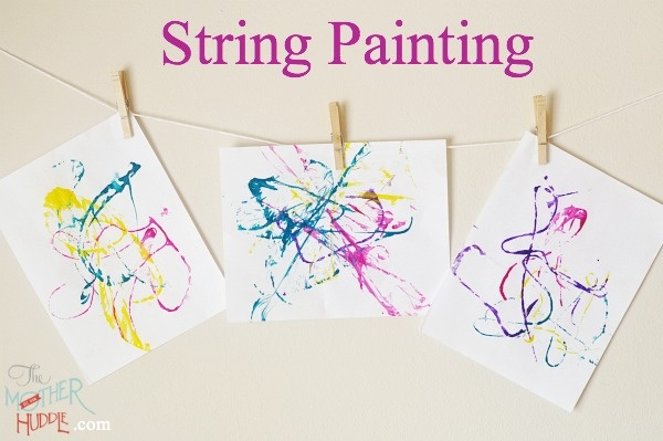 String Painting kids crafts