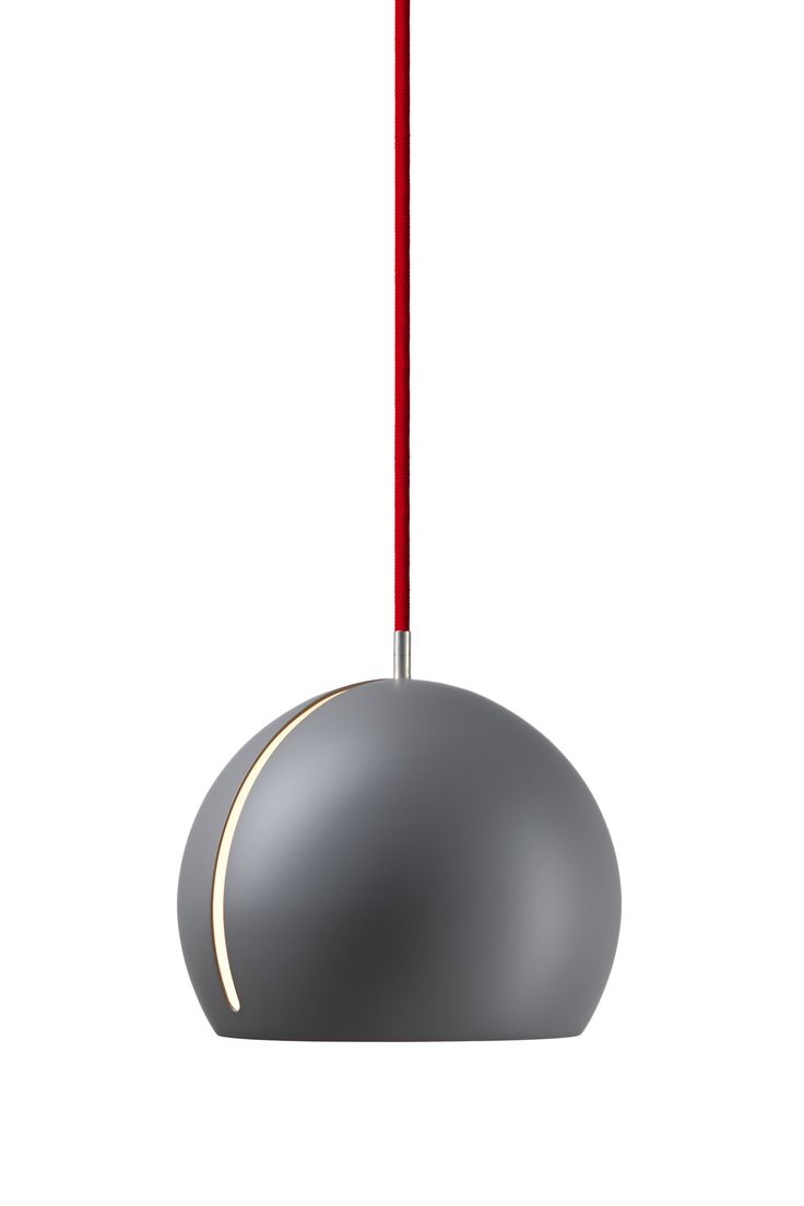 Nyta »Tilt Globe« grey, red cord