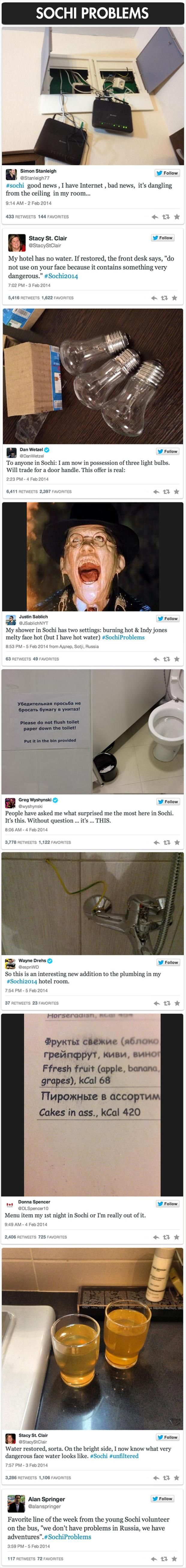 Best Images About Funny YahooFacebookTwitter On Pinterest - Sochi problems tweets