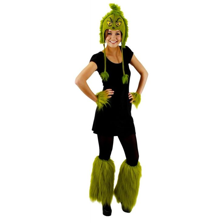 This Grinch hat is an officially licensed Dr. Seuss costume accessory. Our Grinch hat costume accessory includes a deluxe green velour hoodie with faux fur trim. Adults, teens and older kids can wear this funny Grinch hat.