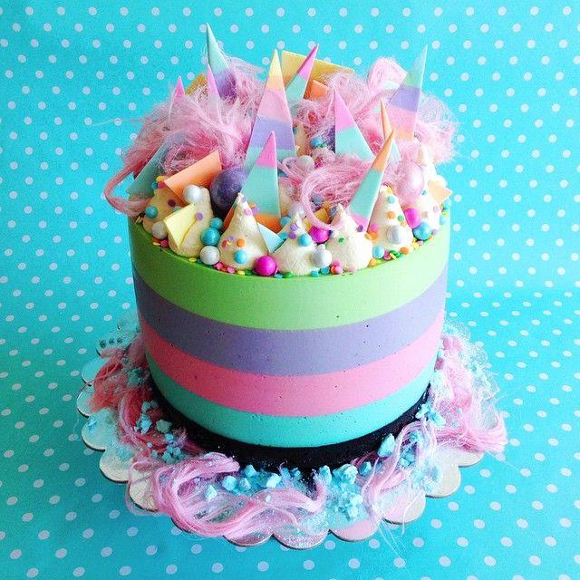 Cool Rainbow Drip Cake