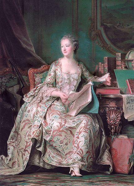 Madame de Pompadour (1721 - 1764) par Maurice Quentin de La Tour (1748-55)