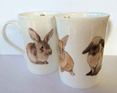 Drink your tea from these elegant watercolour mugs.