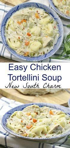 Easy Chicken Tortell Easy Chicken Tortellini Soup best is full...  Easy Chicken Tortell Easy Chicken Tortellini Soup best is full of great flavors pasta. Its the ultimate comfort food almost as good as a hug from mom. Recipe : http://ift.tt/1hGiZgA And @ItsNutella  http://ift.tt/2v8iUYW