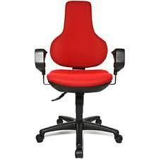 Topstar Ergonomic Fully Adjustable Chair - Red. GAN. Best Price READY ASSEMBLED!