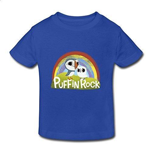 Kids Toddler Puffin Rock Little Boys Girls T-Shirt RoyalBlue Size 3 Toddler -  #flight deal #coupon spreadsheet