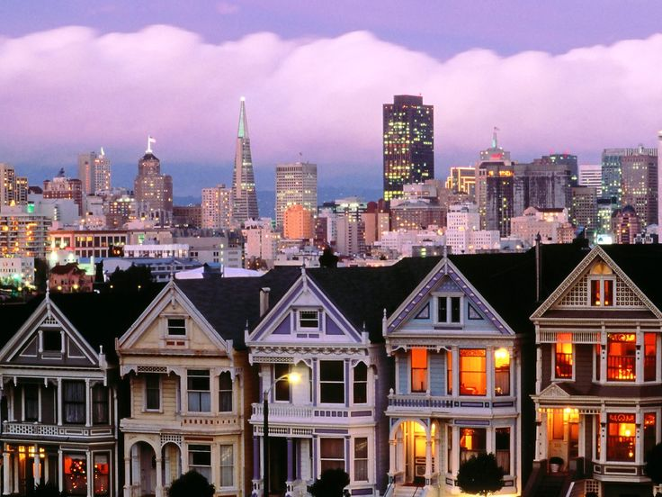 *Row houses, better known as the painted ladies. San Francisco, Ca