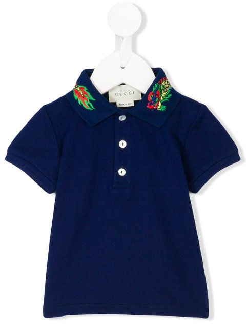Gucci Kids baby polo shirt with dragonclassc