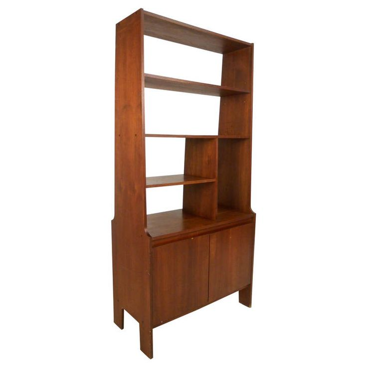midcentury modern american walnut wall unit from a unique collection of antique and