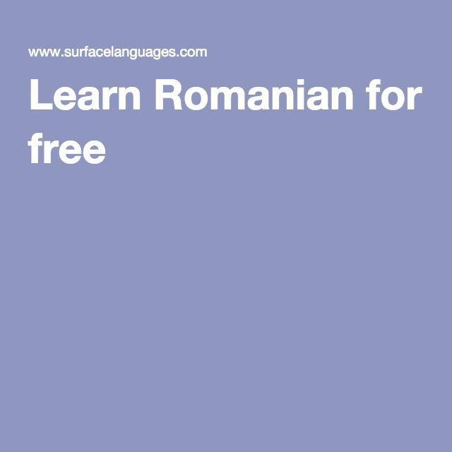 Learn Romanian for free