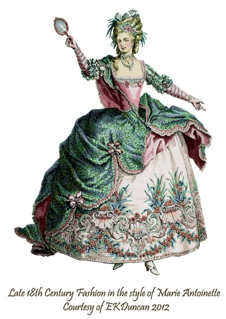 PNGs of vintage French Theater Costumes from the time of Marie Antoinette in a variety of colors by EKDuncan - http://www.ekduncan.com/2012/02/dancing-marie-1-fountain-of-youth.html