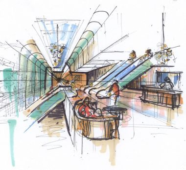 Interior Design Color Sketches 100 best interior :: hand sketches images on pinterest | interior