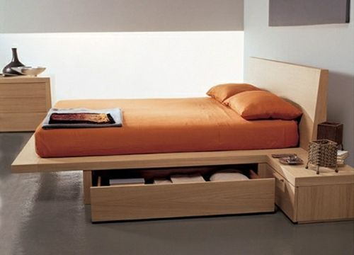 platform storage bed by fimar king size