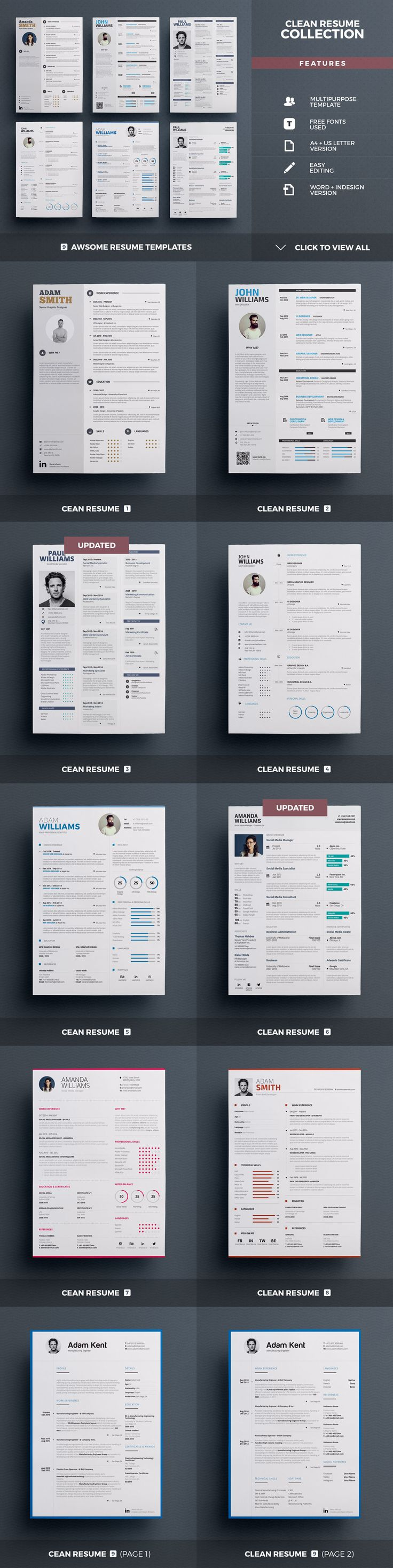 Best Selling Resumes - All-in-One by TheResumeCreator on @creativemarket