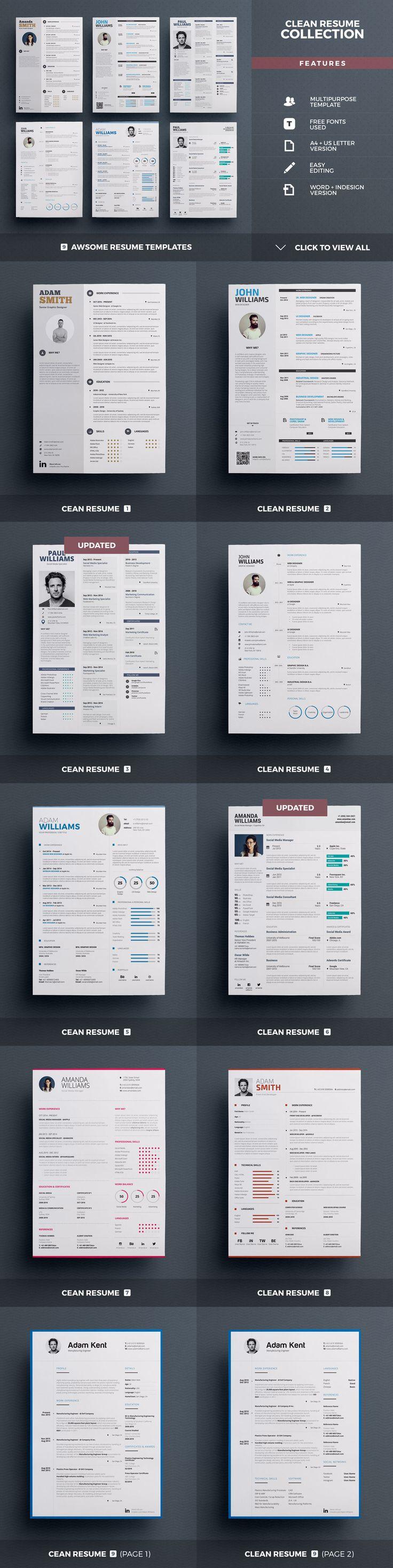 84 best Work images on Pinterest | Resume design, Resume templates ...