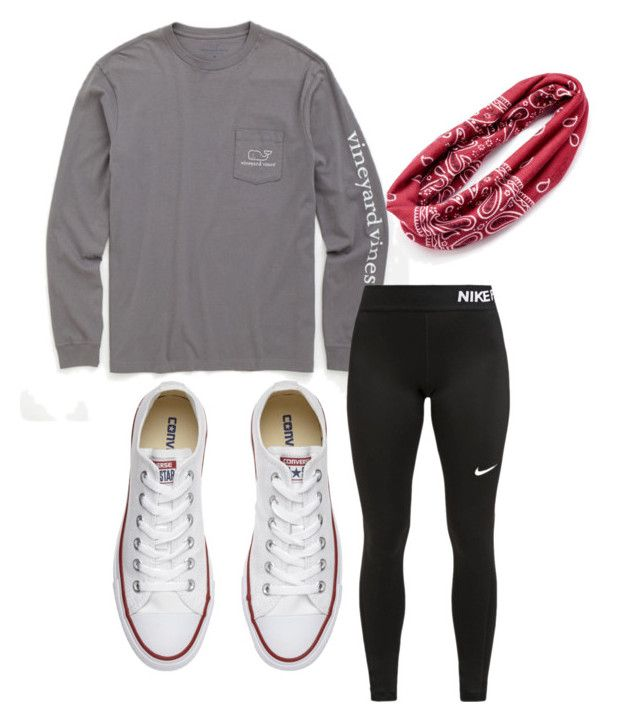 """""""Untitled #24"""" by susie192002 on Polyvore featuring Vineyard Vines, NIKE, Converse and Mudd"""