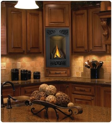 Images Of Napoleon Vittoria Direct Vent Fireplace Natural Gas, Top/Rear  Vent, Remote Ready, Black Door