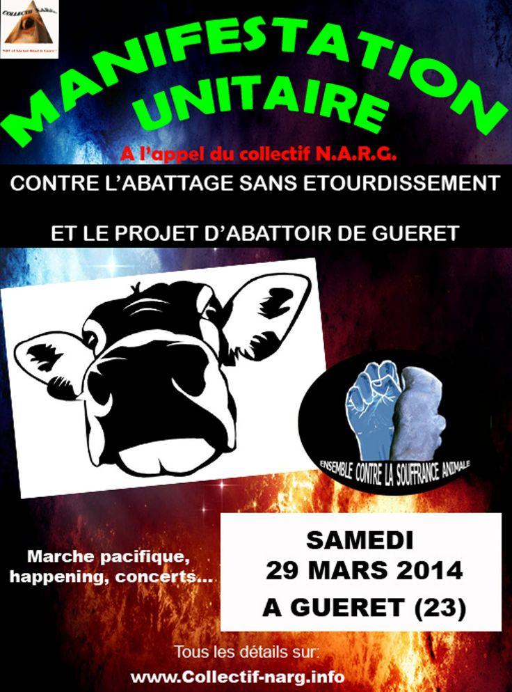 Manifestation contre un projet d'abattoir halal à Guéret (Creuse) | Fondation Brigitte Bardot