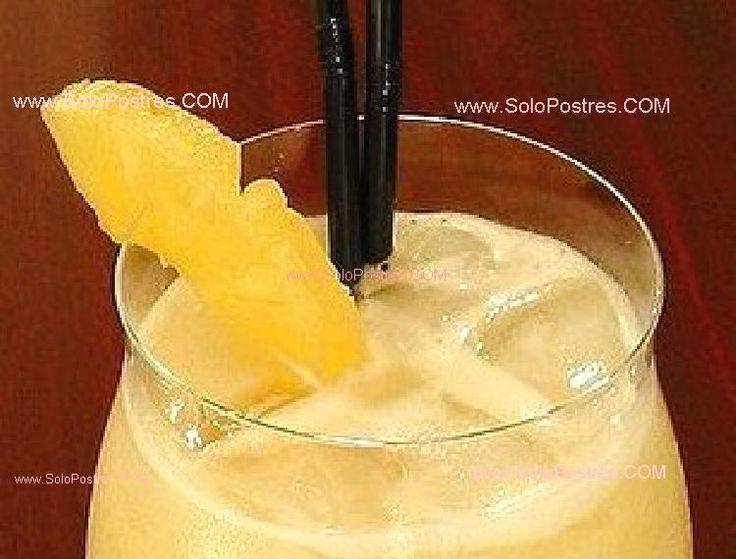 Cóctel de mango con champaña