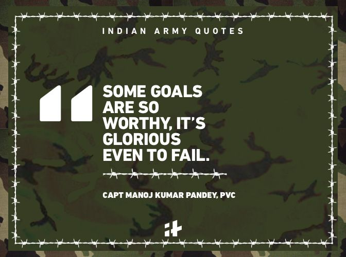 An article about Indian Army quotes