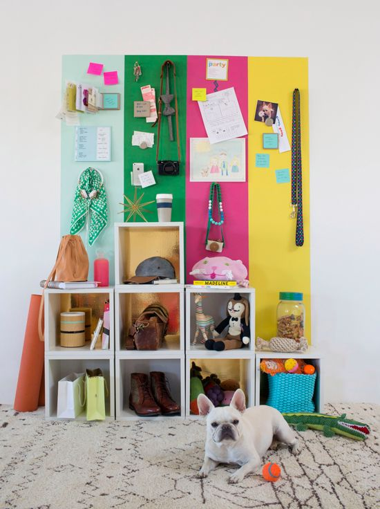 Cute! Family Check-In Station DIY on @Joy Cho / Oh Joy! #diy #organize: Families Check In, Idea, Command Centers, Check In Stations, Diy'S Families, Magnets Paintings, Oh Joy, Stations Diy'S, Ohjoy