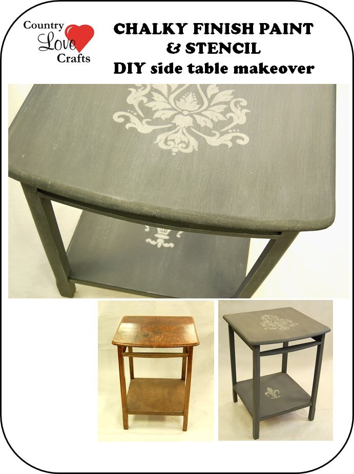 Charity shop table makeover using decoart inc chalky for Furniture charity shops