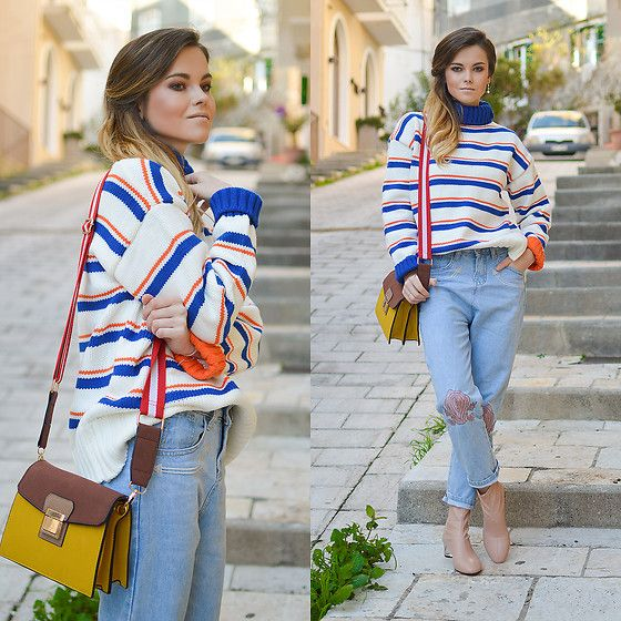 Get this look: http://lb.nu/look/8614613  More looks by Tamara Bellis: http://lb.nu/tamarabellis  Items in this look:  Zaful Sweater, Zaful Jeans, Zara Sock Booties, Zaful Bag   #casual #chic #street