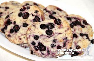 Печенье с черникой и орехами, sladkaya vypechka i deserty headline pechene