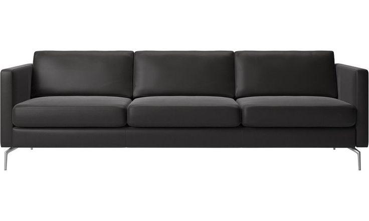 Soffor - Osaka soffa, normal sits - Svart - Läder