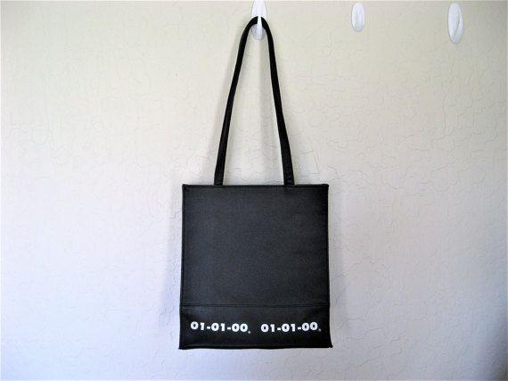 00s Millennium Black & Silver Shoulder Bag by DEEEPWATERVINTAGE