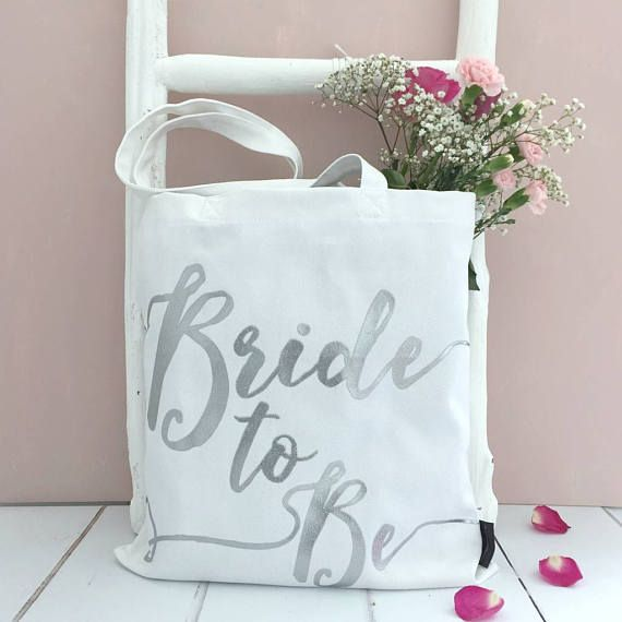 Our popular 'Bride To Be' bag is now available in white and silver, as well as cream and gold.