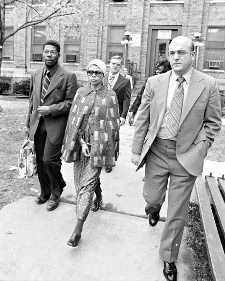 Revolutionary Assata Shakur is escorted from Middlesex county jail, November 1973. Photograph: New York Daily News Archive
