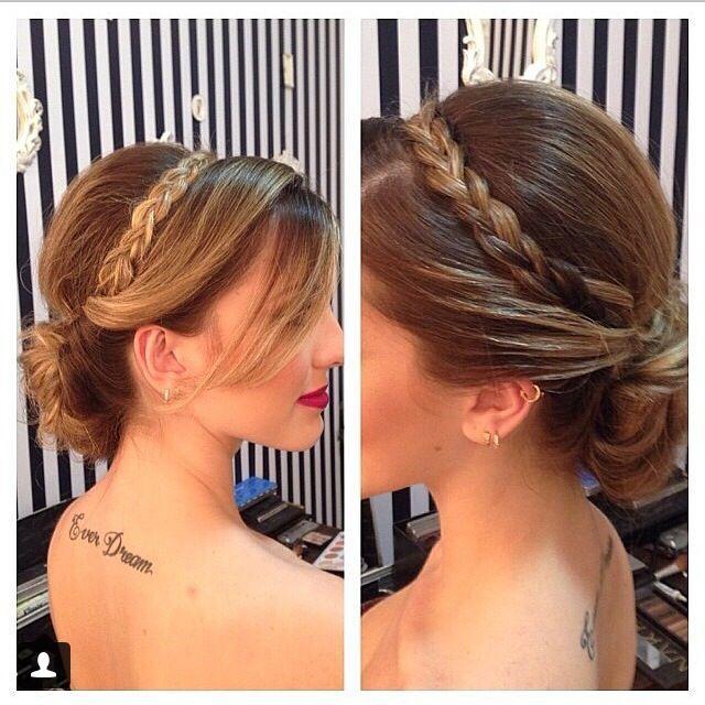 Recogido Con Trenza Peinadosrecogidos Hair Styles Hair Style Recogido Beautiful Hair