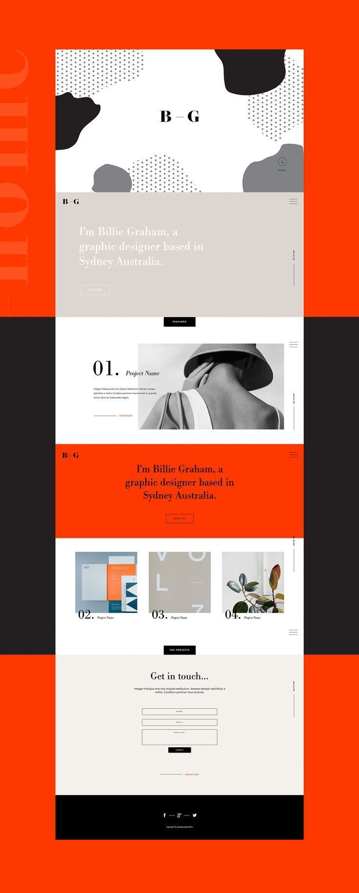Presentation Design Ideas, Simple design layout #MobileWebDesign