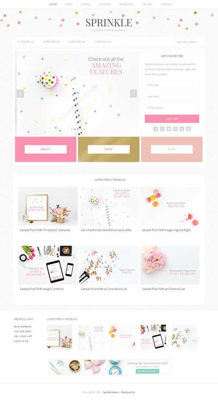 Sprinkle WordPress Theme