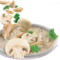 6 gebonden champignonsoep