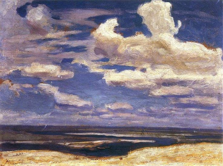 "Jan Stanislawski 1860-1907Clouds on the Dnieper 1903Oil on canvas 9½""x12¾""National Museum, Krakow"