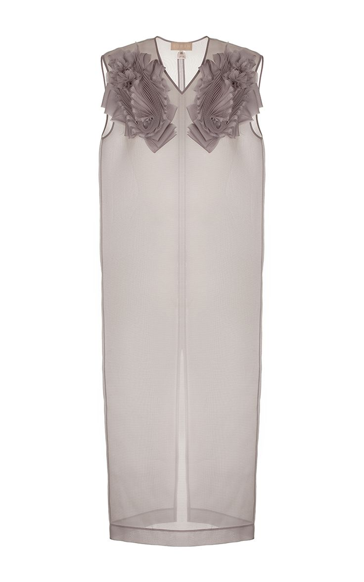 Decorated Organza Shift Dress by RUBAN for Preorder on Moda Operandi