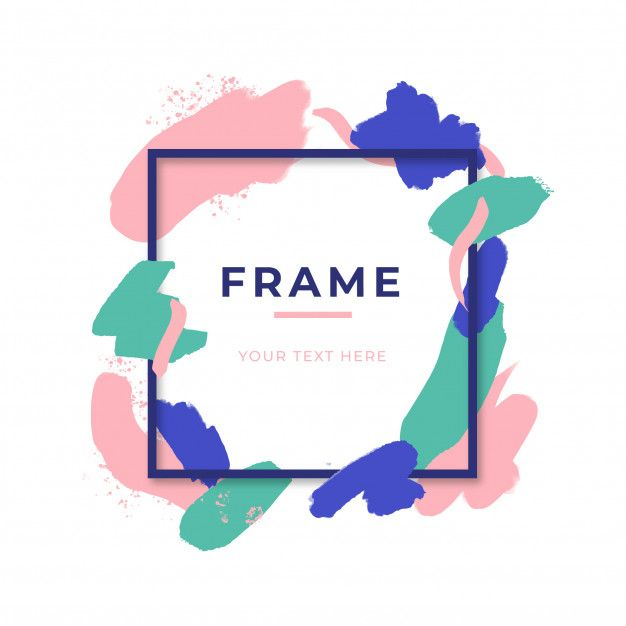 7e275df6d222 Modern coloured frame with paint splashes Free Vector