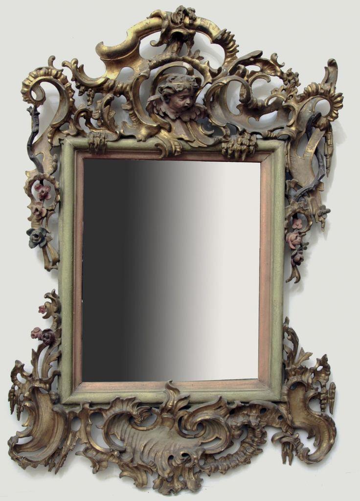 Зеркало настенное резное в стиле Барокко | Русская Антикварная Галерея
