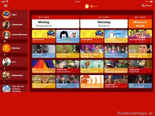 ZDFtivi Kinder App iPad iPhone Android (6)