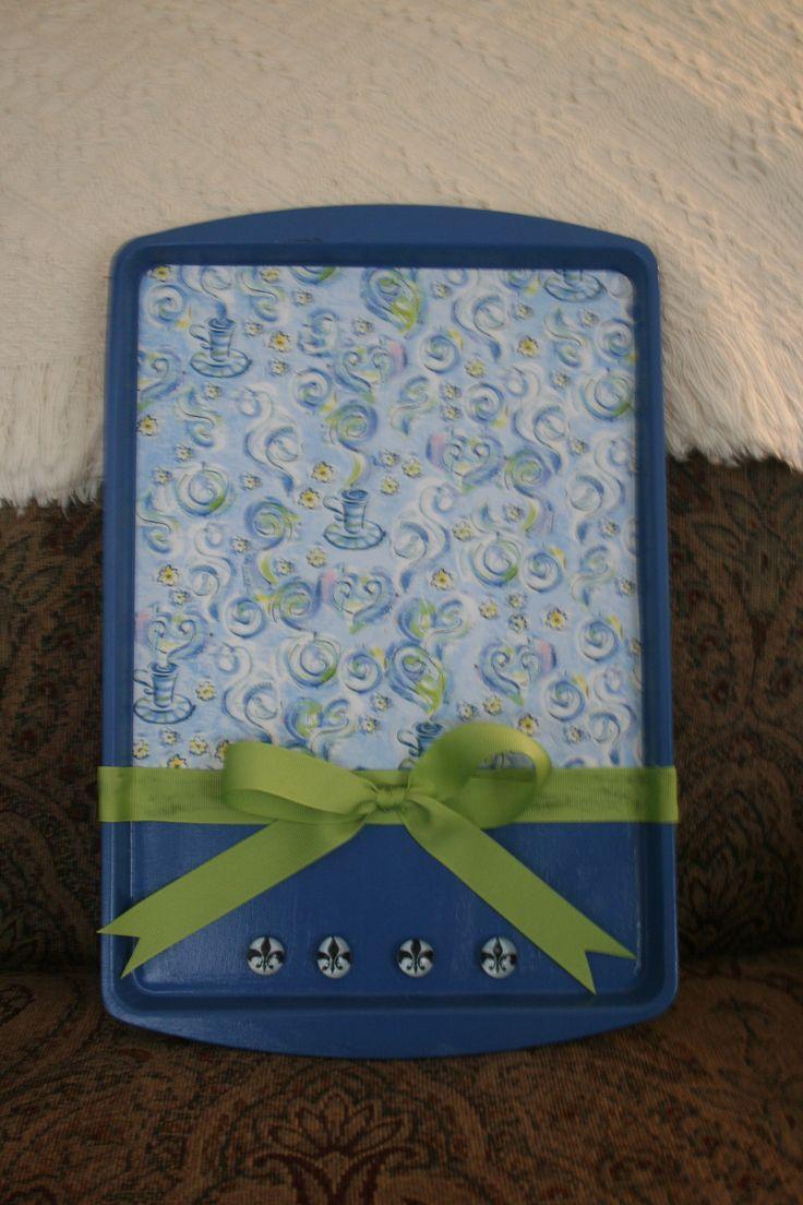 Cookie Sheet Memo Board - Scrapbook.com